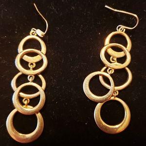Gold tone circle earrings